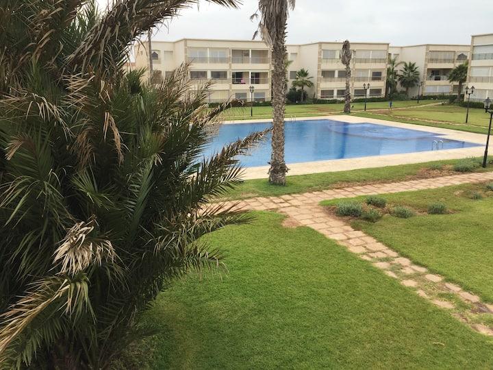 Appartement meublé vue piscine  Olablanca