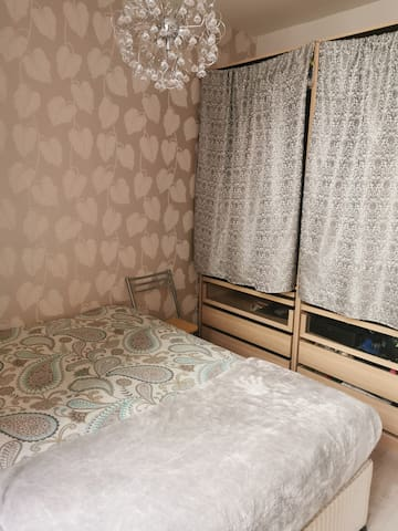 Double bedroom with 2 double wardrobes and a large chest of drawers