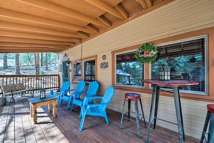 NEW! Ruidoso Cabin - 2 Miles from Grindstone Lake!