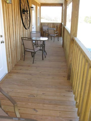 Balcony to look out and see either your horses or others horses
