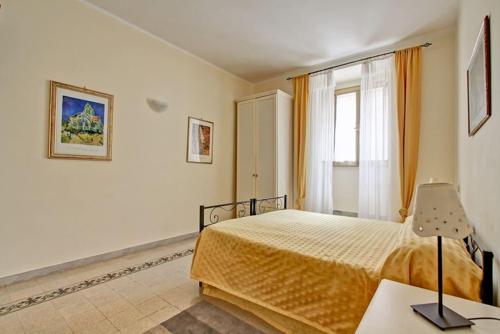 Yellow double or quadruple room