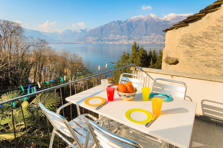 Magnificent view on the Lago Maggiore