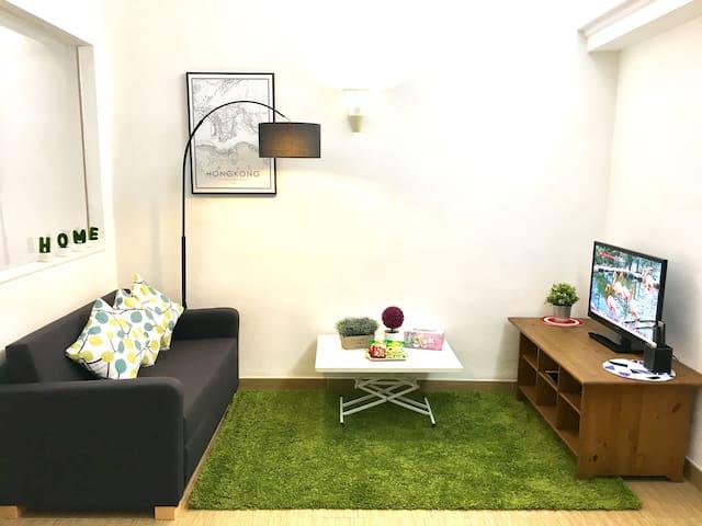Modern Deco & cozy apt for 6 in TST, 1min to metro - Hong Kong - Apartament
