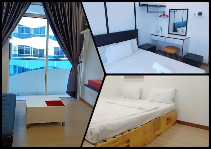 Melaka The Wave Apartment with pool & gym (A16)