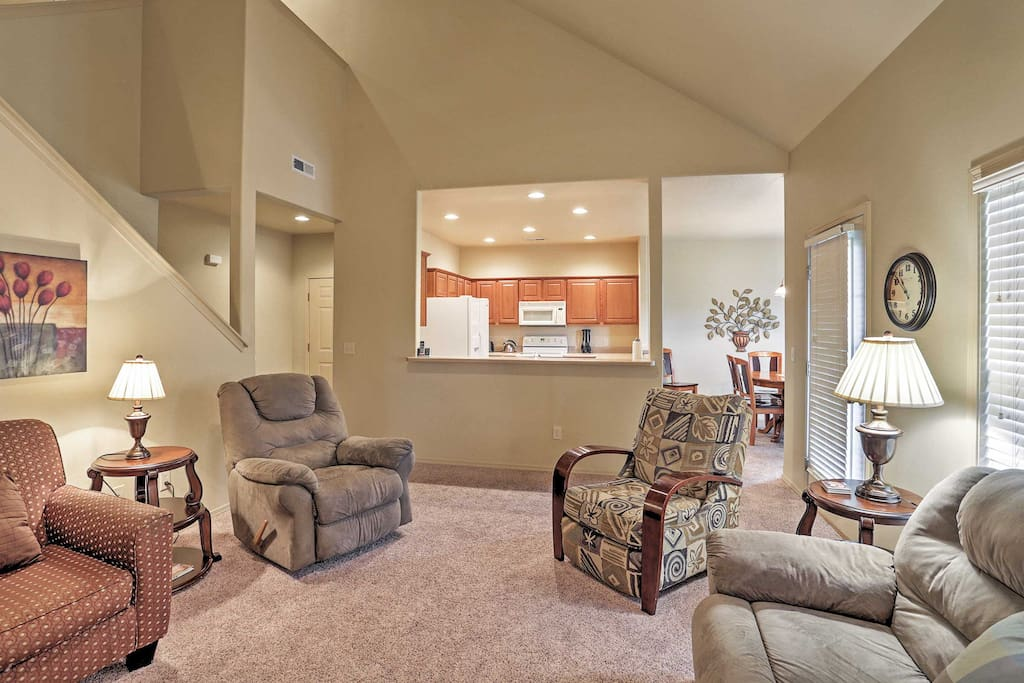 The openness of the kitchen and living room make conversation easy.