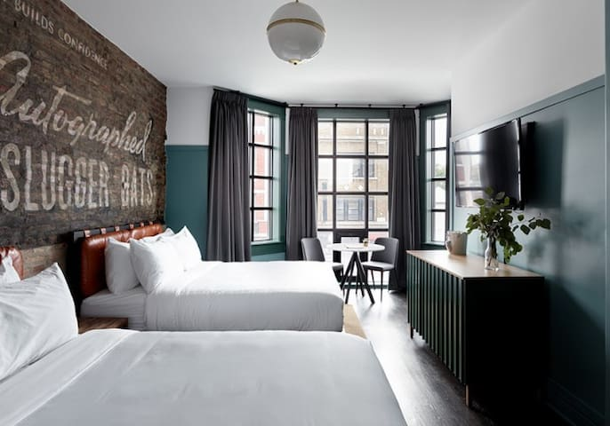 Double Queen Room at Boutique Wrigleyville Hotel