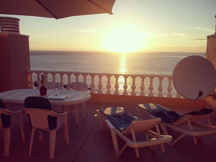 The best panoramic view and sunset in tenerife for Terrace 45 scout santiago