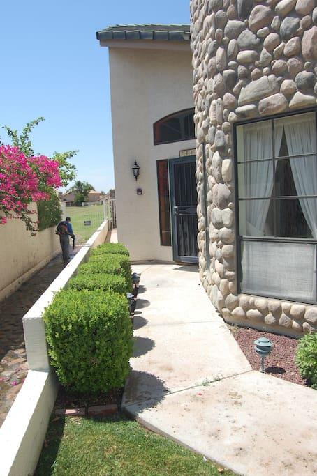 Walkway to front door entrance