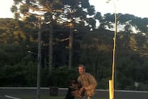 eu e Bono, meu cão