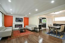 Open Concept - Glimpse of Living, Dinning and Kitchen !!