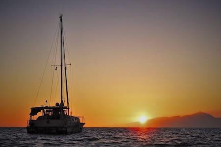 Albatros Sailing Catamaran in south Gran Canaria - Arguineguin - Barca