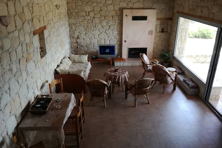 Stone villa house. Chalkidiki, develiki (ierissos)