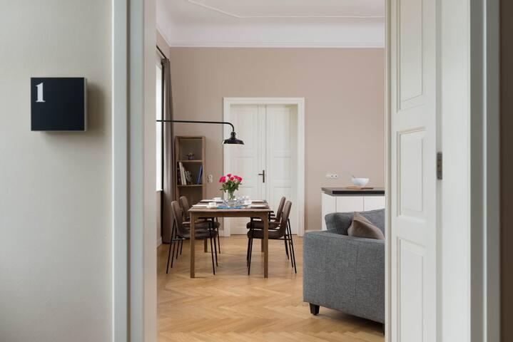 Schloss Beuchow in Lübbenau, Wohnung 1 - Lübbenau/Spreewald - Apartmen