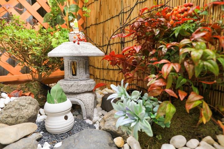 【宸 鸭川】神宫丸太町|最多6人|鸭川边|近京都御所|全新改装|60平米三室一户建|小庭院|中文可以