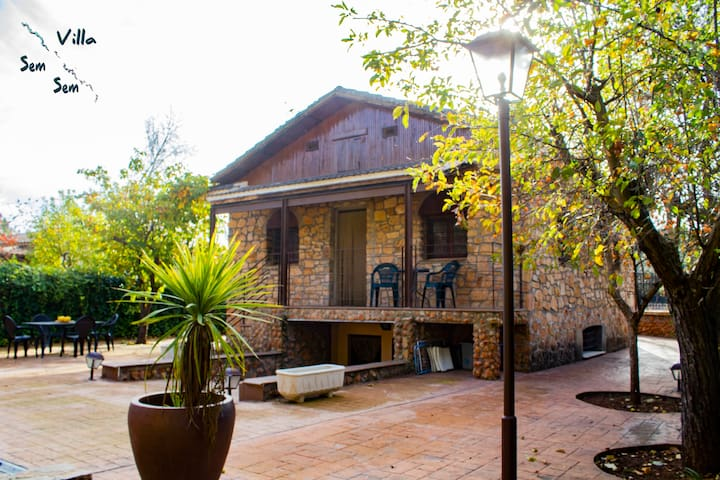 Casa Rural Villa Sem Sem (A). 1ª Linea. 8 personas