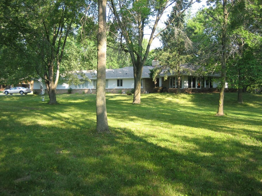 A big Ranch Home with lots of windows and land!