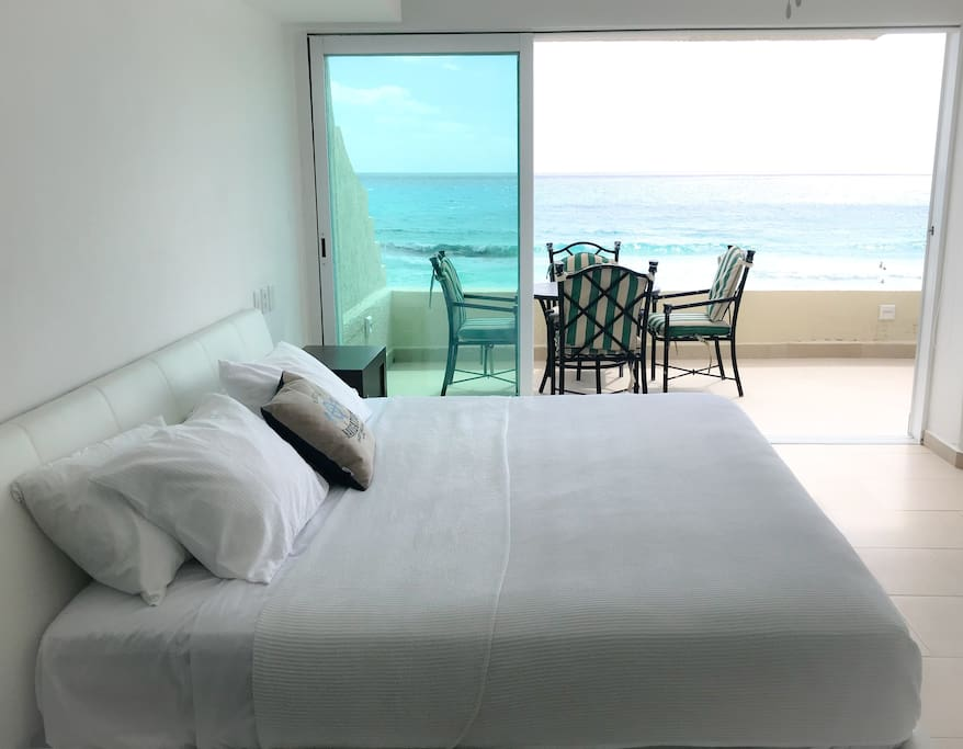 Master suite with access to the terrace.