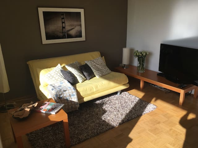 Bright apartment, separate bedroom, 20 min to Bonn