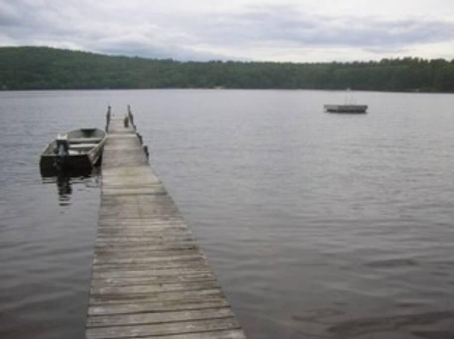 Dock, Raft, Fishing Boat