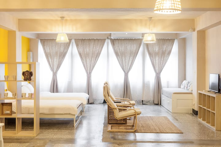 Patio Apartment 天井公寓_溫暖旅人家庭房 - Shilin District - Appartement