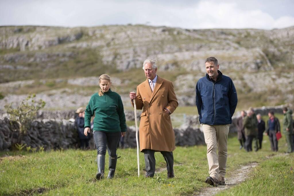 Prince Charles enjoying a walk in the Burren