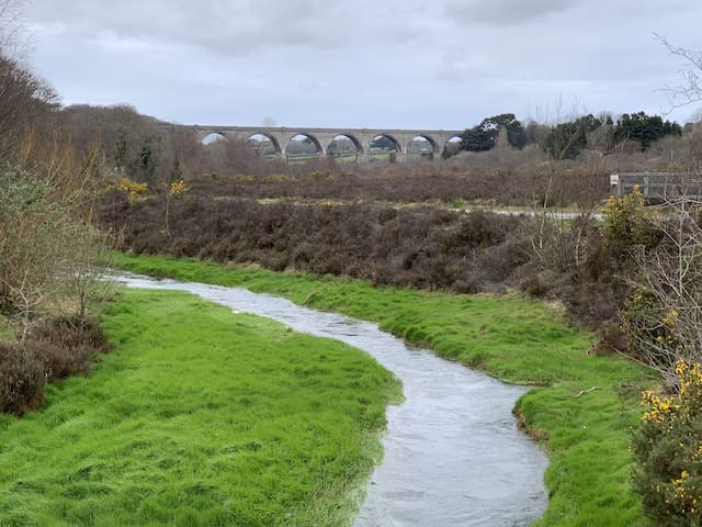 River running beside the cycle trail