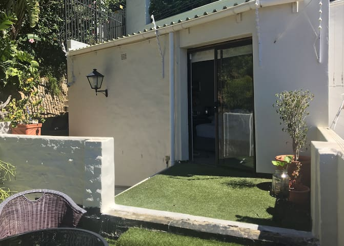Sliding door to outdoor space