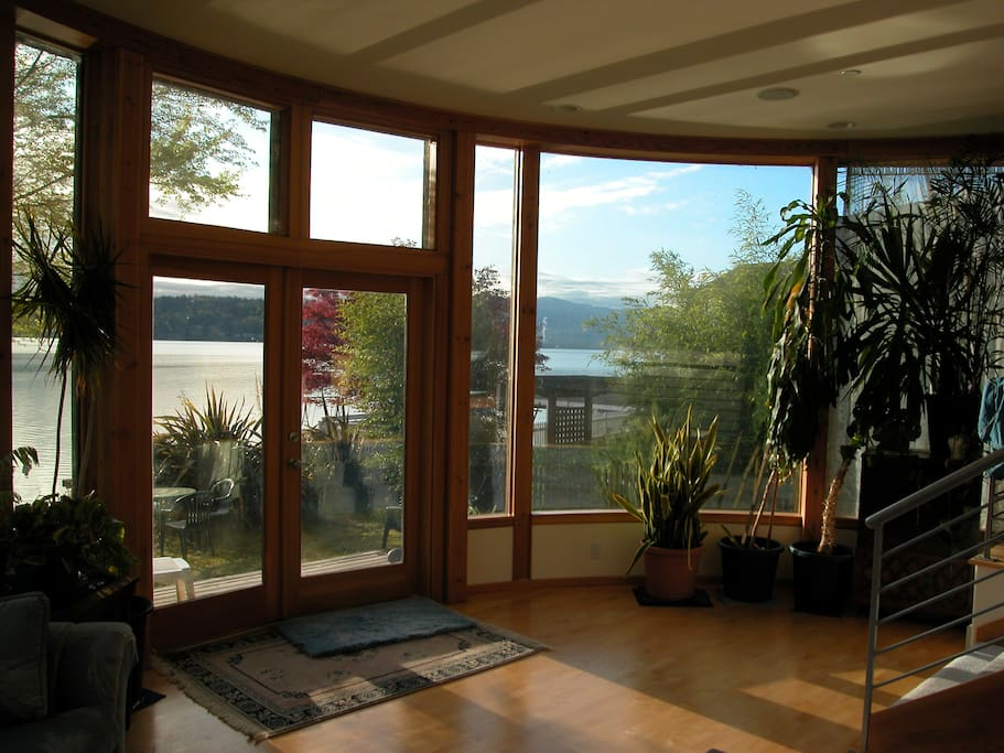 Beautiful Lake Sammamish as seen from the living room.