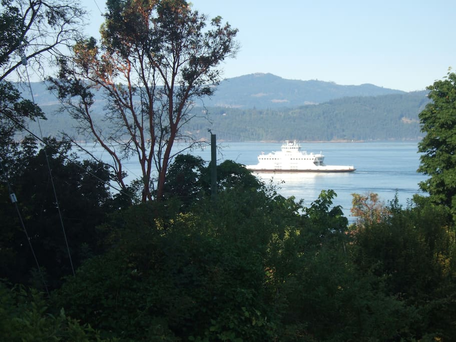 Watch ferries and ocean vessels pass though the channel.
