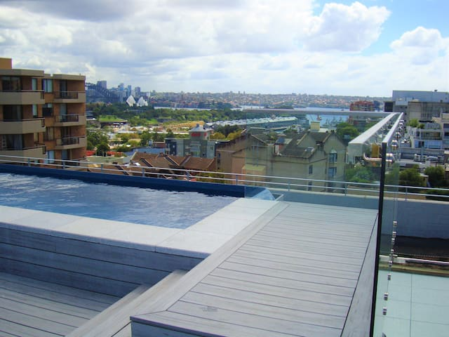 Rooftop pool with breathtaking views of Sydney Harbour and Opera House