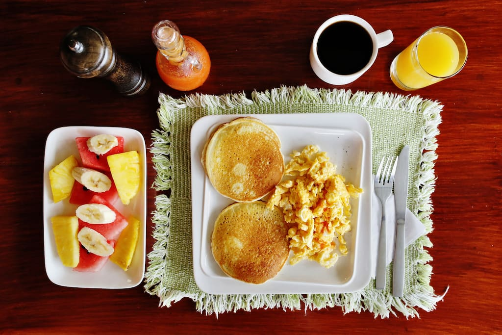 Delicious hot breakfast