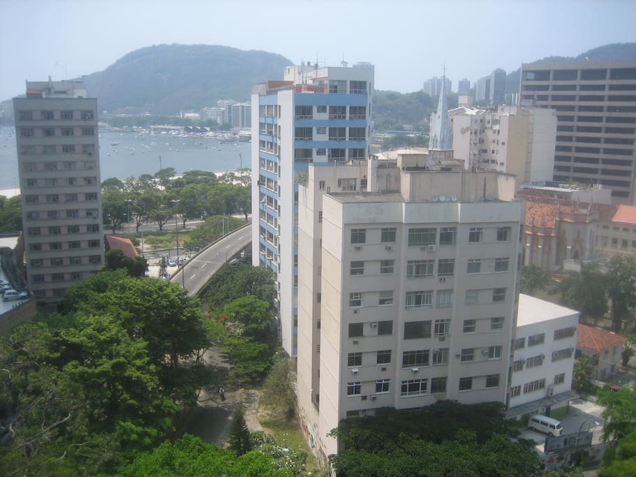 View from the apartment on Botafogo Bay