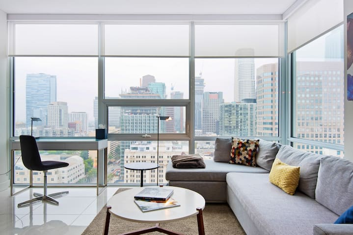 Wake Up to City Views in a Stylish, Modern Home