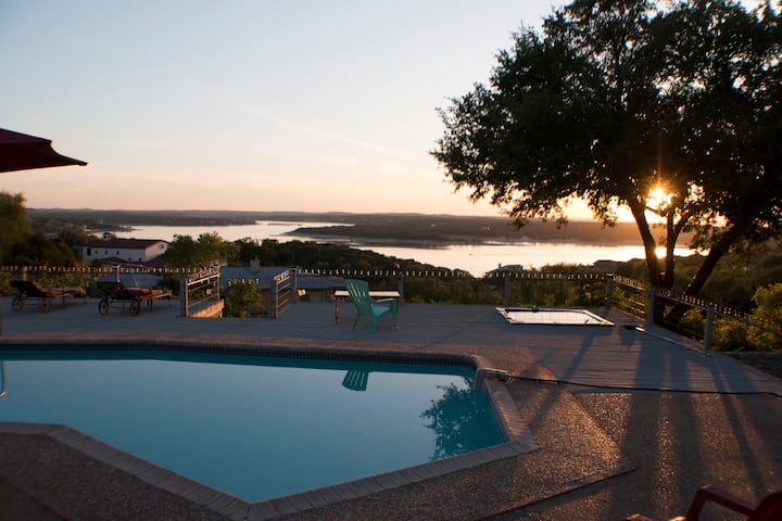 Award winning Lake Travis views and sunsets!