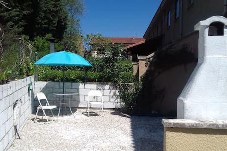 Modern summer rental. Private entrance and patio.