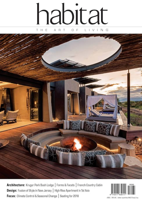 N'Wambu Safari Lodge featured in Habitat magazine May/June 2018