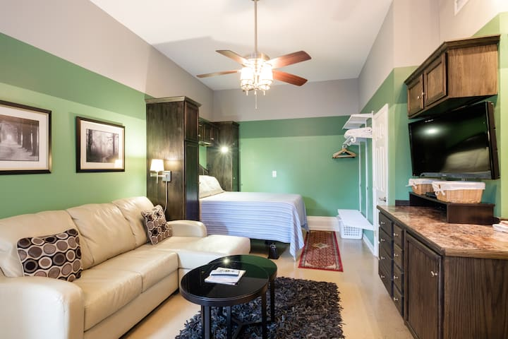 The Green Suite! with Wetbar & Bath/5 mins to DT! - Nashville