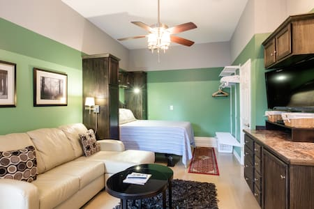 The Green Suite! with Wetbar & Bath/5 mins to DT! - Nashville - Rumah