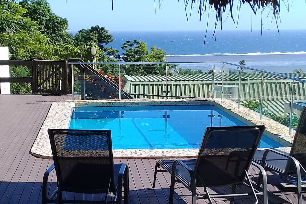 Pool and deck with fabulous ocean view
