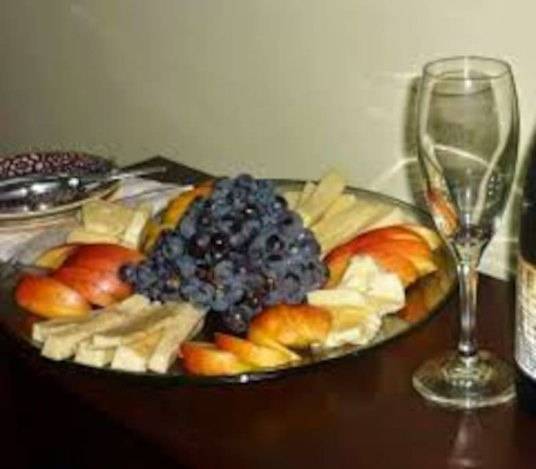 Order a cheese & fruit platter