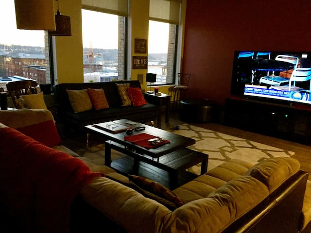 Cozy Penthouse, Lowertown - next to park and train