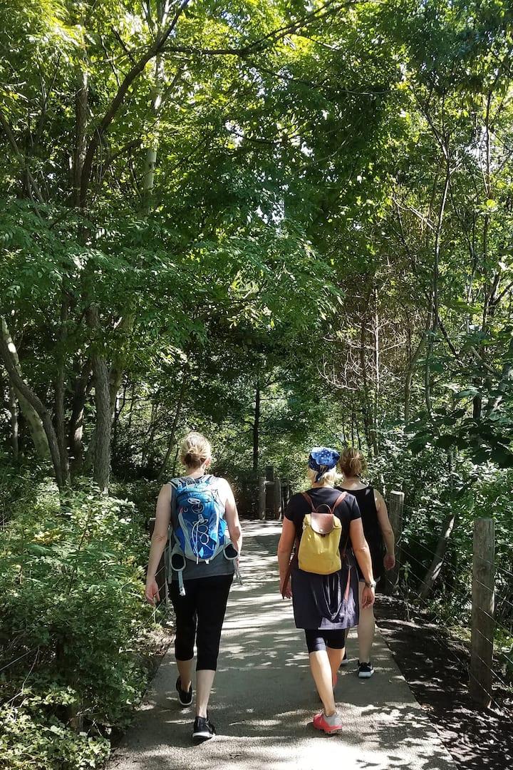 Hiking in Brooklyn Bridge Park