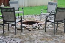 Fire pit outside your door.