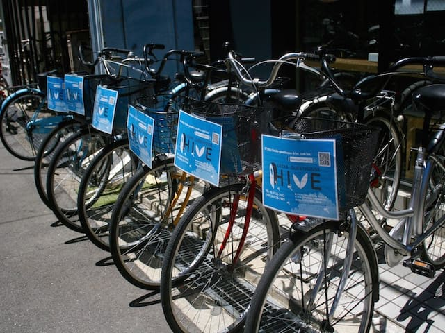 We are providing rental bikes! It would be great to go to see around the city by bikes! レンタル自転車もご用意!市内観光に大人気です!