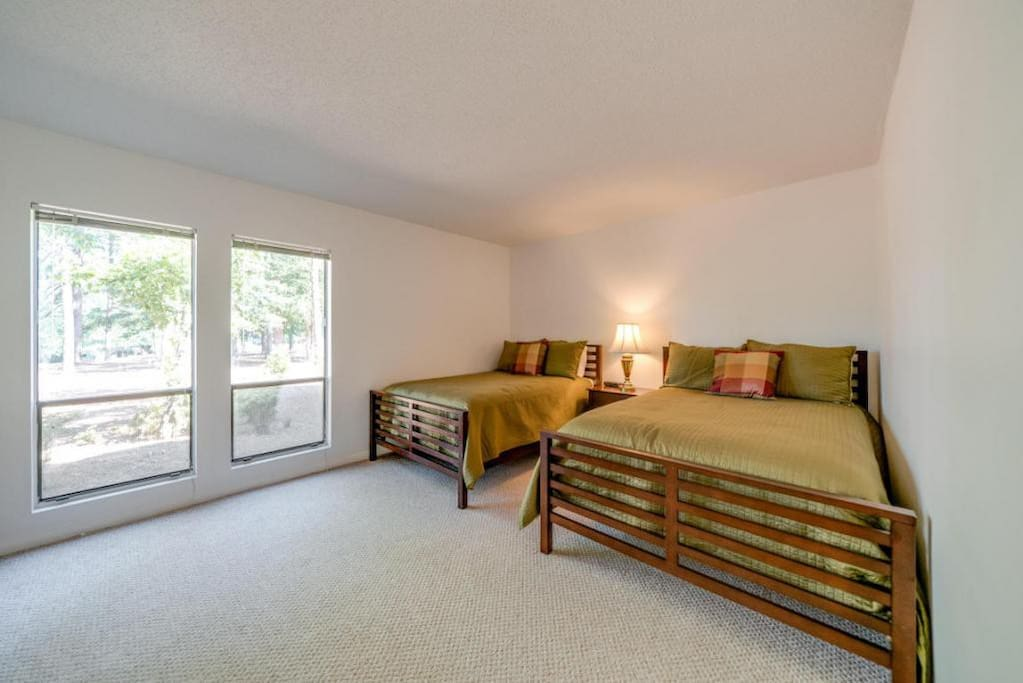 Bedrooms feature TV and plenty of storage space.