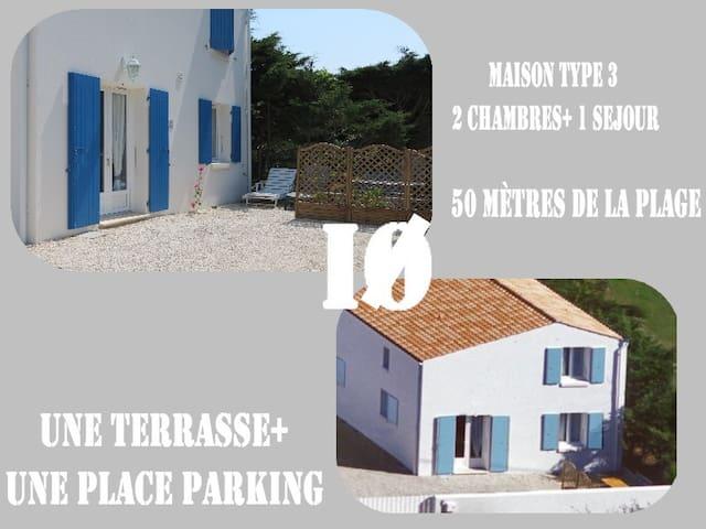 île d'Oléron jolie maison 2 chambres  - de 50m mer - Saint-Pierre-d'Oléron - Hus