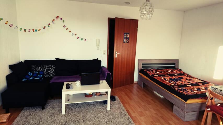 Bright & cosy studio flat near city center - Tübingen - Departamento