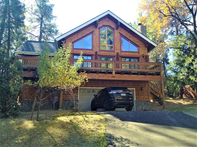 Magnificent Log Home with Sauna - Idyllwild-Pine Cove - Hus