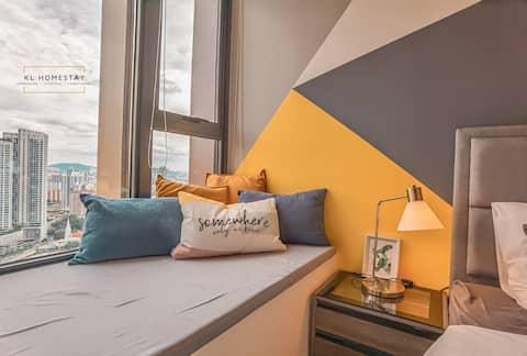 【NEW】32th High Floor Designer Suites@KL City View