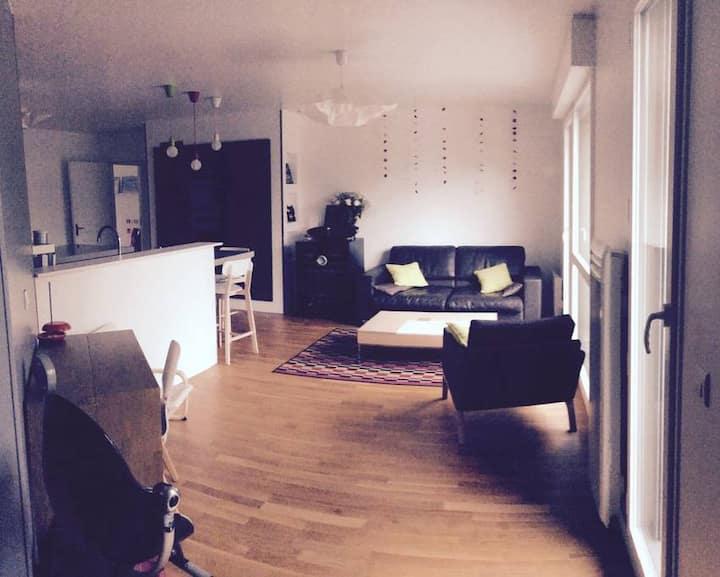 Belle chambre dans logement 90m², Portes de Paris